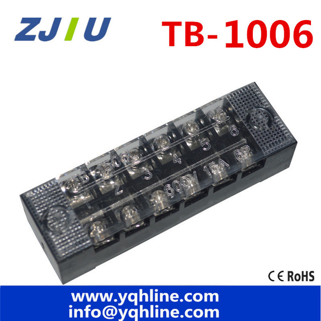 terminal blocks tb 1006 100a 6p patch panel wiring row junction box rh aliexpress com Telephone Wiring Block Ports 12 Volt Wiring Block