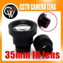 Lente do filtro do ir da placa 1/3 do cctv mtv da lente f2.0 de 650 35 35 35mm para câmeras video do cctv da segurança
