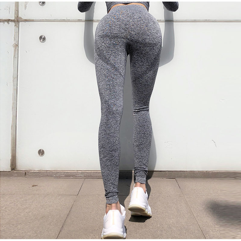 Peach High Waist Fitness Pants Female Tight Running Training Quick drying Exercise Slim Hip Sports Yoga Clothes Women Outdoor in Yoga Pants from Sports Entertainment
