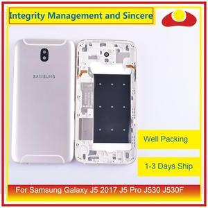 Image 5 - Original para samsung galaxy j5 pro 2017 j530 j530f SM J530F j530fm habitação bateria moldura da porta capa traseira caso chassis escudo