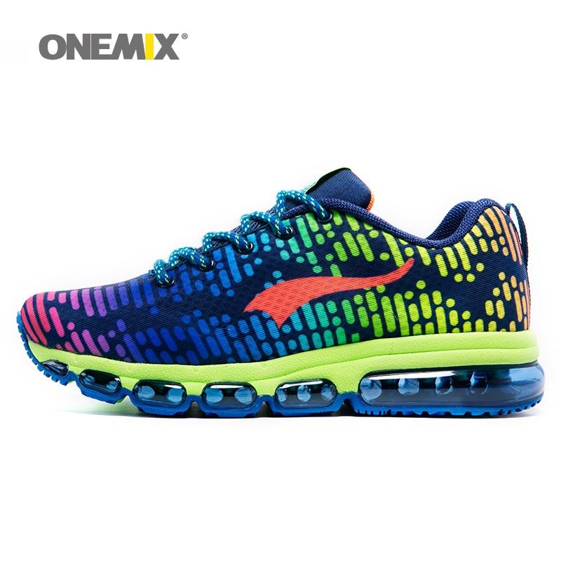 Onemix más nuevos mens zapatos deportivos mujeres zapatillas de malla transpirab