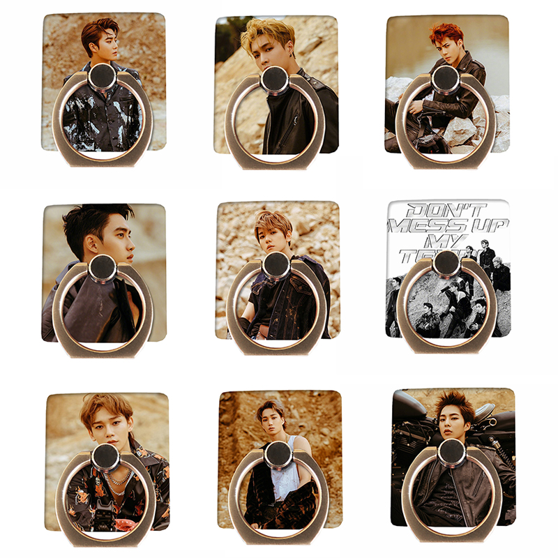 Kpop Exo Dont Mess Up My Tempo Universal Phone Stand Holder Ximin Chanyeol Adjustable Finger Ring Grip 360 Degree Latest Technology Jewelry Findings & Components