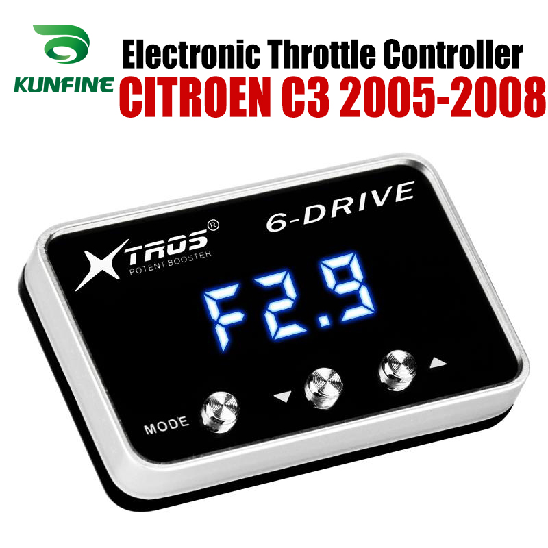 Car Electronic Throttle Controller Racing Accelerator Potent Booster For CITROEN C3 2005-2008 Tuning Parts AccessoryCar Electronic Throttle Controller Racing Accelerator Potent Booster For CITROEN C3 2005-2008 Tuning Parts Accessory