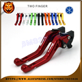 For YAMAHA BWSR125 BWS BWSR BWS-R 125 R125 2016  RED BLUE NEW STYLE BLUE LOGO  Motorcycle Adjustable Short Brake Clutch Levers