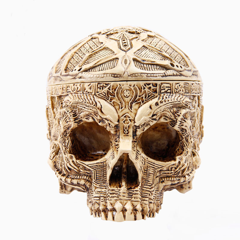 decoration fashion personality skull home supplies resin big ashtray Ashtray for car billiard soccer ball car