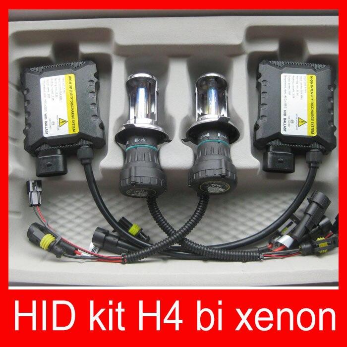 ФОТО Car headlight hid xenon kit slim ballast 12V 35W DC H4-3 9004-3 9007 hi lo 9012 5012 H13 BI XENON hi lo