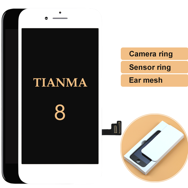 5pcs For Tianma For iphone 8 8G LCD Display with 3D Touch Screen Assembly Replacement Parts 100% with Gifts Digitizer Touch