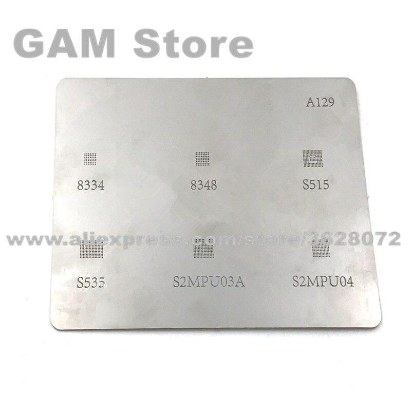 Для X600 зарядное устройство IC BGA трафарет 8348 8334 S535 S515 S2MPU03A S2MPU04 силовой чип реболлинг Pin BGA нагревательный шаблон A129 5 шт./лот