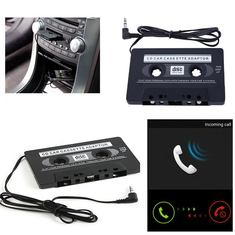VEHEMO 3.5mm Car Audio Cassette Tape Adapter AUX For iPod MP3 MP4 Cell Phone CD DVD Player car stereo image