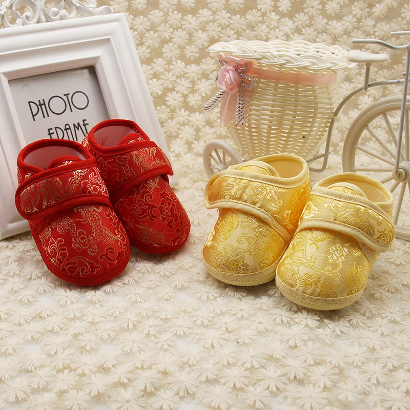 Classic Chinese wind baby soft foot school Shoes Baby Newborn Prewalker Kids Boy Girls Toddler Shoes for 0-18M Kids