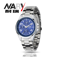 NARY Creative Fashion Men Watch Luxury Faux Leather Quartz Watch And Stainless Steel Men Analog Watch