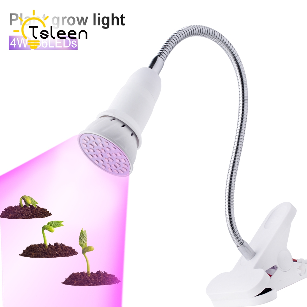 TSLEEN E27 220V Flower Fruit Led Grow Light Desk Hydroponic Lamp Flexible Neck 360 Degree For Indoor Plant 36 54 72LED 2835