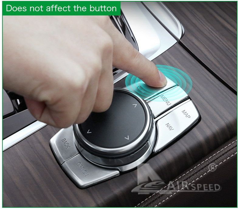 Airspeed for BMW 5 Series G30 528i 530i 540i Accessories Car Multimedia Buttons Cover ABS Interior Decoration Car Styling (12)