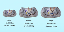 GLORIOUS KEK Dog Bed for Medium Dogs Washable Rectangle Fluffy Pet Bed for All Seasons Soft Winter Dog Bed Sofa for Chihuahua