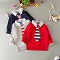 Y-17, pajarita, niños del resorte de los muchachos suéteres, de muy buen gusto de manga larga suéteres outwear