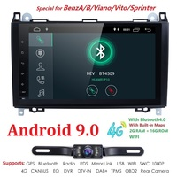 Android 9.0 2 Din Car Multimedia Player Navigation For Mercedes/Benz/Sprinter/Viano/Vito/B class/B200/B180 RDS BT Free camera
