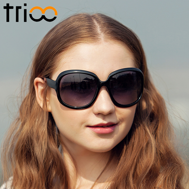 967d5dd199 TRIOO Oversized Polarized Sunglasses Women Luxury Elegant Sun Glasses For Women  Fashion Gafas Oculos Gradient Eyewear