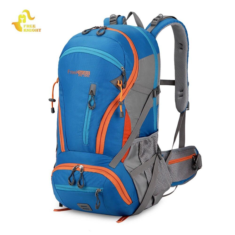 Caballero libre 45L gran capacidad escalada senderismo molle mochila resistente al agua camping montañismo bolsa de viaje Mochila deportiva