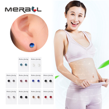 Bio Magnetic Therapy Earrings For Slimming  Magnet In Ear Eyesight Weight Loss Healthy Stimulating Acupoints Stud Earring 1 Pair