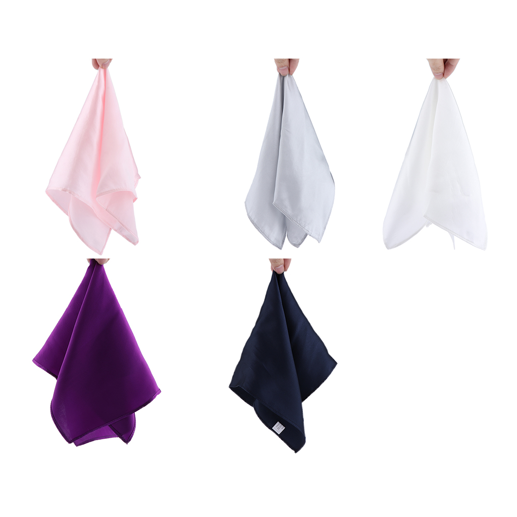 Men's 100% Mulberry Silk Gentle Pocket Square Plain Solid Handkerchief Variety Colors For Wedding Church Evening Parties