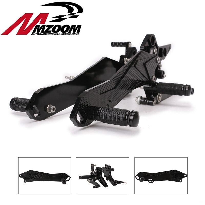 Motorcycle CNC Footrest Adjustable Motor Rearset Rear Set Standing Feet for Kawasaki Z800 2013 2014 2015