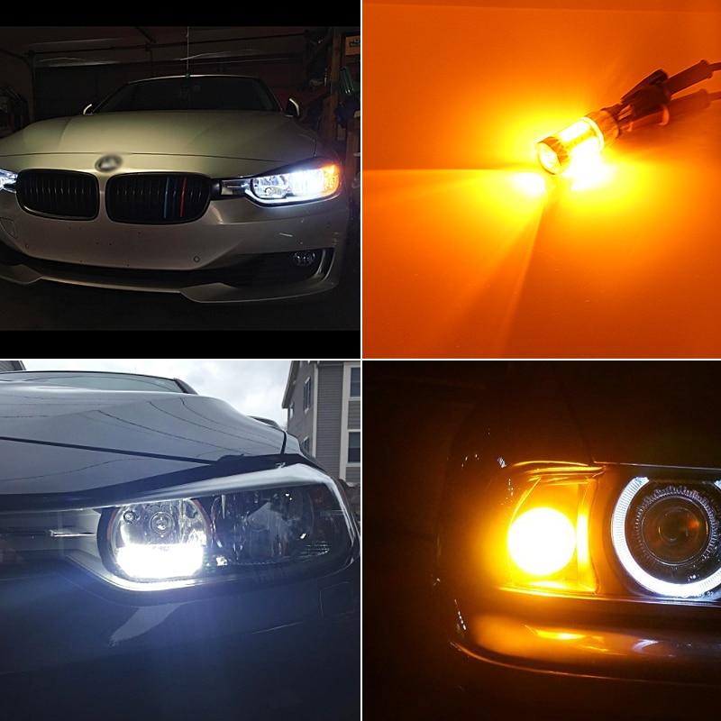 2x Led Error Free PW24W PWY24W DRL Лампи повороту для - Автомобільні фари - фото 6