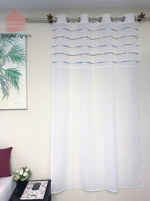 Artex 2017 cucina bianca di tulle per finestre breve sheer tende ...