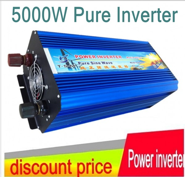 5000W rated power 10000W surge powre 12V 24V DC to 220V AC pure sine wave power