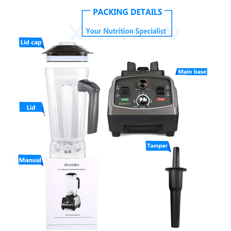 3HP 2200W Heavy Duty Commercial Grade Automatic Timer Blender Mixer Juicer Fruit Food Processor Ice Smoothies 3HP 2200W Heavy Duty Commercial Grade Automatic Timer Blender Mixer Juicer Fruit Food Processor Ice Smoothies BPA Free 2L Jar