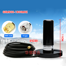 GSM 900 1800 MHz 2G 3G 4G LTE omnidirectional בסיס מגנטי אות לשדר/לקבל 35dbi רכב בסיס תחנת N סוג/SMA