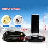 GSM 900 1800MHz 2G 3G 4G LTE omnidirectional Base magnetic Signal Transmit/receive 35dbi high gain Car base station N type/SMA