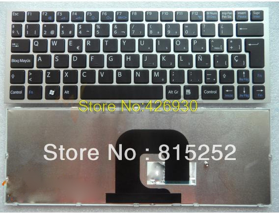ФОТО Laptop Keyboard for For SONY Keyboard VPC-YB VPC-YA SP Black With Silver Frame 9Z.N5USW.00S