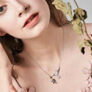 Image 4 - BISAER 쥬얼리 세트 925 스털링 실버 버드 Hummingbirds 인사말 칼라 Anel 쥬얼리 세트 여성 패션 귀걸이 쥬얼리
