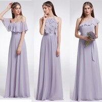 Ever Pretty Women Wedding Long Bridesmaid Dresses Chiffon Sexy A Line Sleeveless Formal Wedding Guest Party Bridesmaid Dress