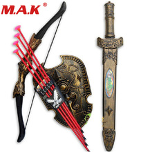 children toys plastic sword shiled bow and arrow combo simulation archery toy set christmas new year gift for kids
