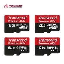 Transcend Карта Micro Sd 128 ГБ/64 ГБ/32 ГБ/16 ГБ Class10 Карты Памяти Флэш-Память Картао Микро 400X SDHC XC для Телефона/Таблетки/Камеры