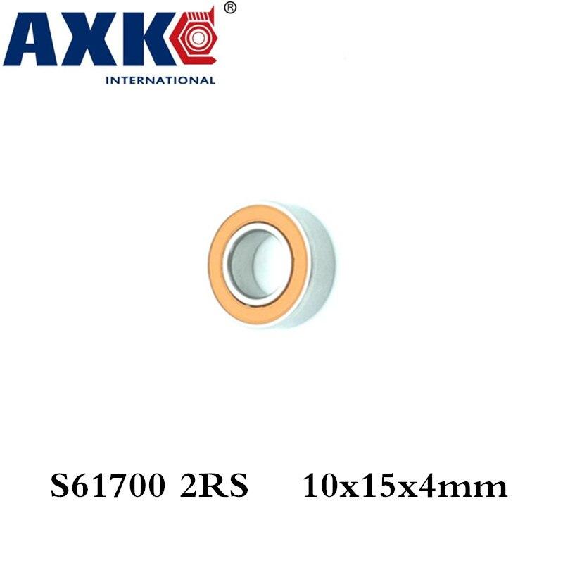 Axk 10x15x4 S61700 2rs Cb / S6700 2rs Cb Abec7 10x15x4mm Stainless Steel Hybrid Ceramic Ball Bearing stainless steel hybrid ceramic ball bearing smr84 2rs cb abec7 4x8x3mm