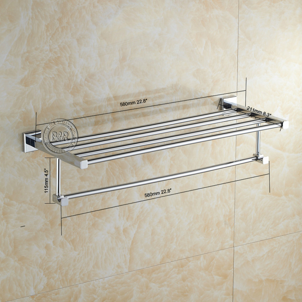 Free shipping BAKALA Fashionable Towel rack Bathroom accessories Towel bar chrome BR 87001