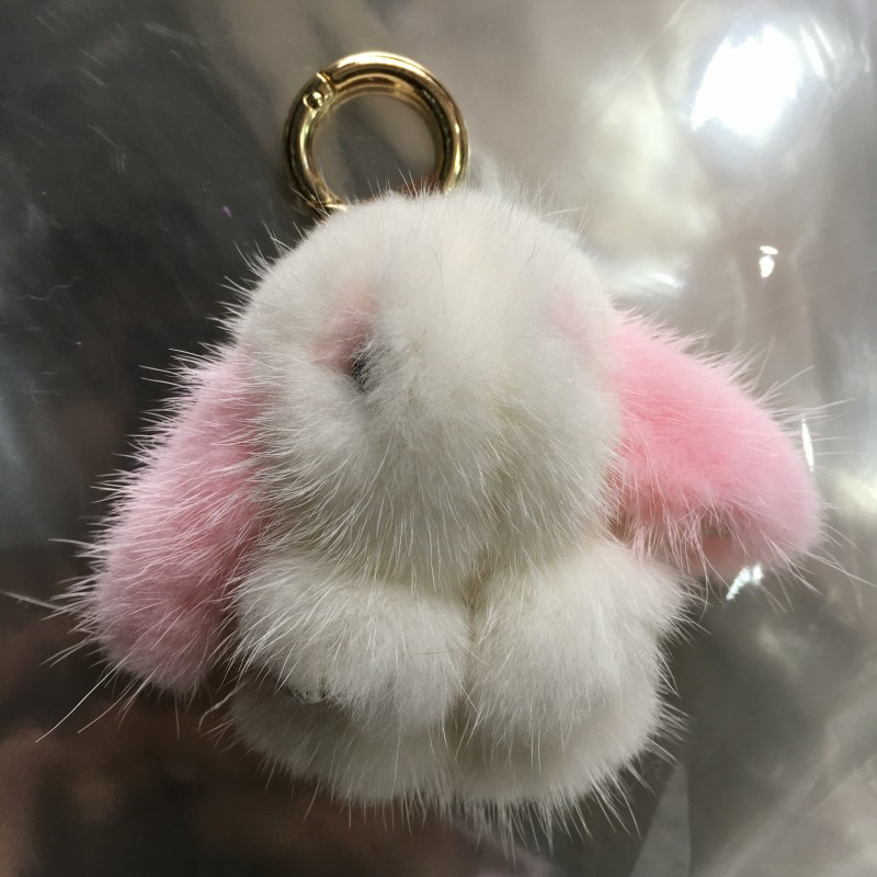 2018 Promotion New Replacement Luggage Wheels Chain Bag Cute Girls With Bag Accessories Mini Mink Hair Bunny Fur Pendant ...