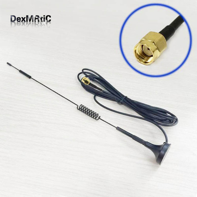 2.4GHz 7dBi High gain Omni WIFI Antenna Magnetic base 3M cable  RP SMA Male Plug  Connector  #1