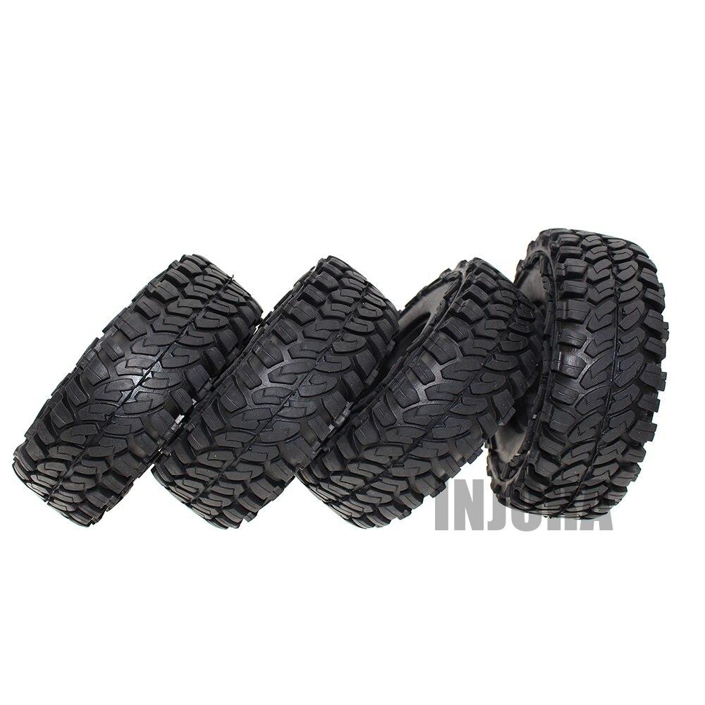 4 piezas 114mm 1,9 pulgadas rueda de goma de neumáticos para 1:10 RC Rock Crawler coche Axial SCX10 90046 Tamiya CC01 d90 D110