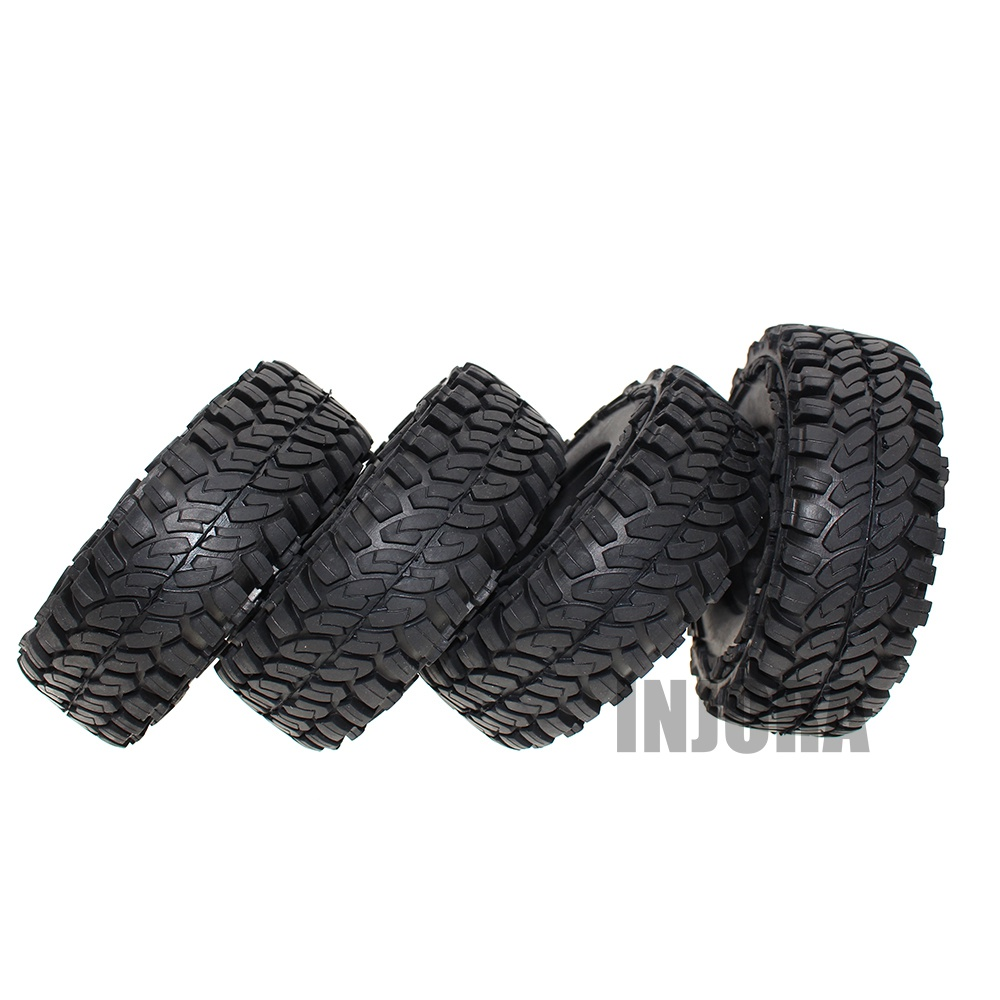 4PCS 114MM 1.9 Inch Rubber Wheel Tires for 1:10 RC Rock Crawler Car Axial SCX10 90046 Tamiya CC01 D90 D1104PCS 114MM 1.9 Inch Rubber Wheel Tires for 1:10 RC Rock Crawler Car Axial SCX10 90046 Tamiya CC01 D90 D110