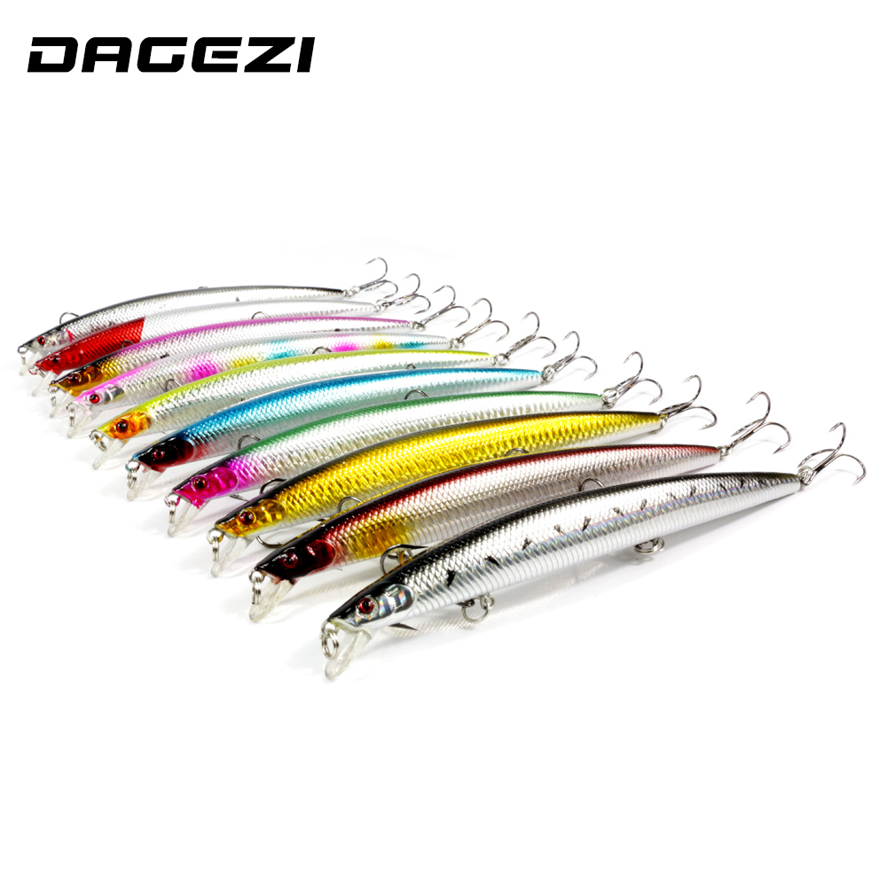 DAGEZI Super Big 10pcs/lot 18CM/23G Fishing lure hard bait artificial baits Laser painting minnow 3D eyes fishing wobbler pesca 1pcs 20cm 45g fishing lure large minnow lure artificial 3d eyes hard minnow baits with hooks fishing tackle senuelos de pesca