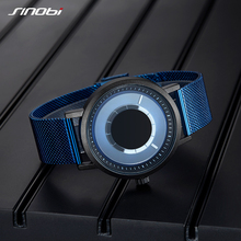 Unique Rotate Creative Steel Mesh Band Quartz Wristwatches