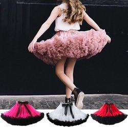 Fashion Fluffy Chiffon Pettiskirts tutu Baby Girls Skirts Princess skirt dance wear Party clothes 12M-10T