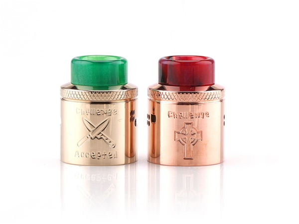original Hellvape Dead Rabbit 24 Challenge Cap electronic cigarette accessory for 24mm hellvape dead rabbit BF RDA with drip tip