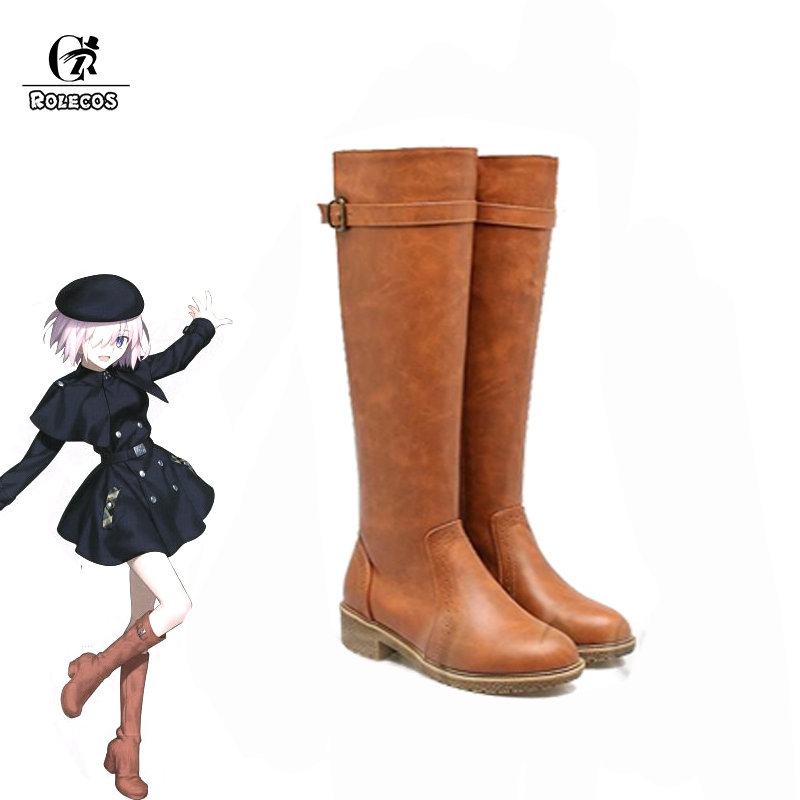ROLECOS Mash Kyrielight Cosplay Shoes Fate Grand Order Game Cosplay Boots Women Shoes 2018 3rd Anniversary