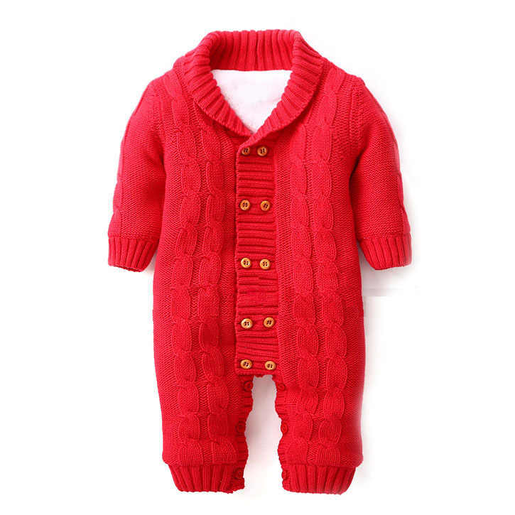 5d6752a3a26a ... 100% Cotton Winter Newborn Baby Rompers Plus Velvet Warm Baby Girls  Costume Baby Boys Outfits ...