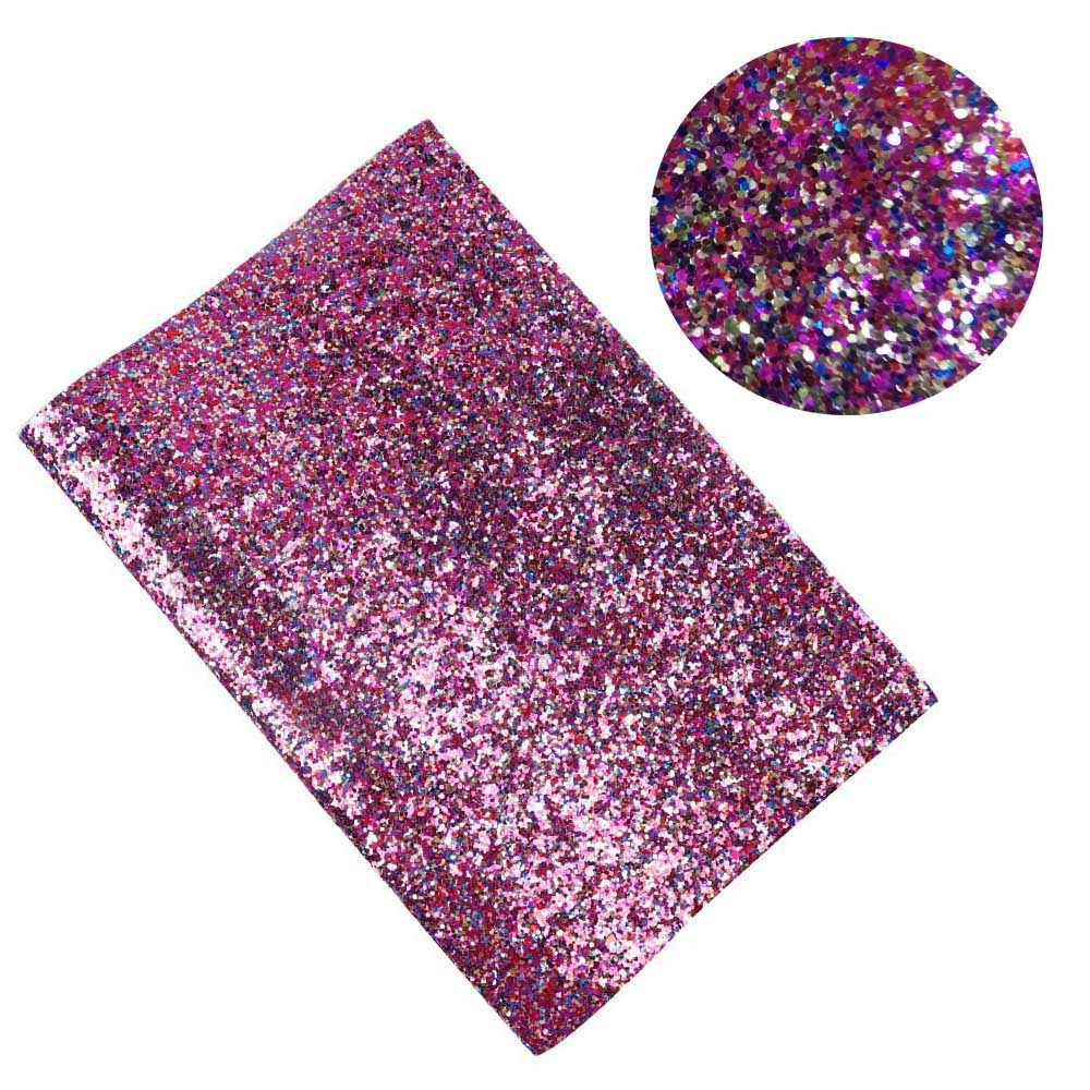 22CM*30CM Chunky Glitter Fabric Shiny Laser Sequins Patchwork DIY Bag Shoes Accessories Fabric Handmade Phone Case Material