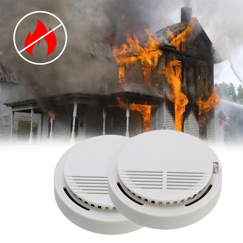 85dB Fire Smoke Photoelectric Sensor Detector Monitor Home Security System Cordless For Office Building Family Guard Restaurant